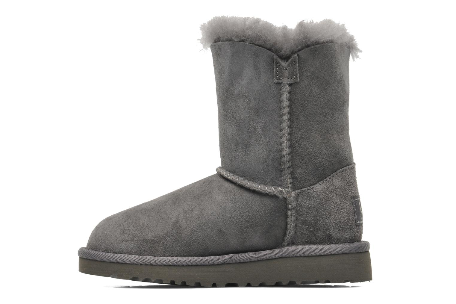 Bottes UGG Kid's bailey button Gris vue face