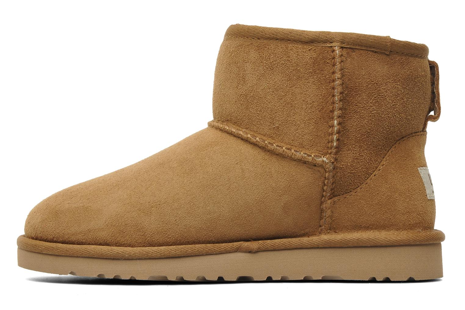 Ankle boots UGG Kid's classic short Beige front view