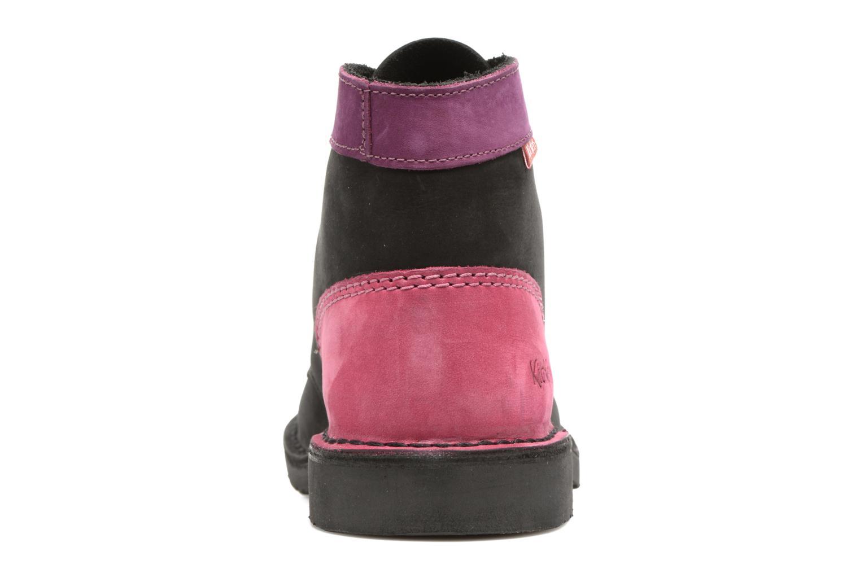 Chaussures à lacets Kickers Kick color perm Noir vue droite