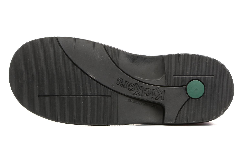 Chaussures à lacets Kickers Kick color perm Noir vue haut