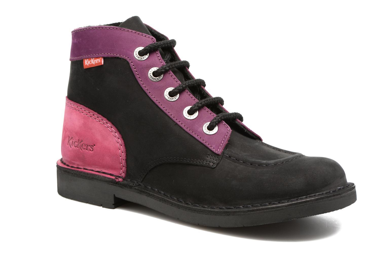 Chaussures à lacets Kickers Kick color perm Noir vue détail/paire