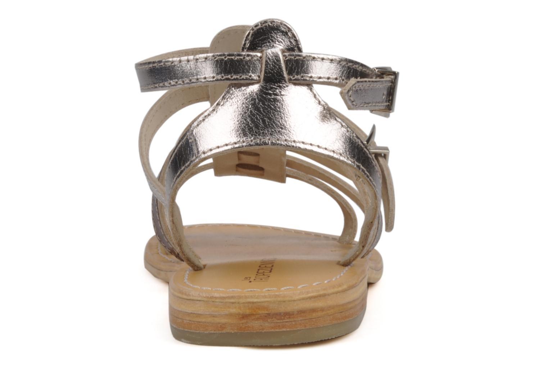 Sandales et nu-pieds Les Tropéziennes par M Belarbi Hic Argent vue droite