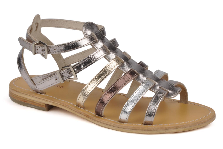 Sandales et nu-pieds Les Tropéziennes par M Belarbi Hic Argent vue détail/paire