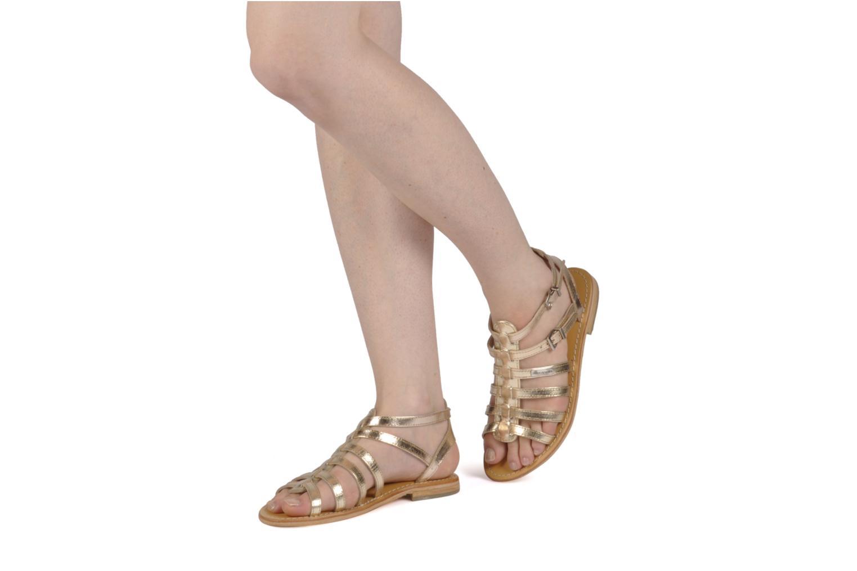 Sandalen Les Tropéziennes par M Belarbi Hic gold/bronze ansicht von unten / tasche getragen