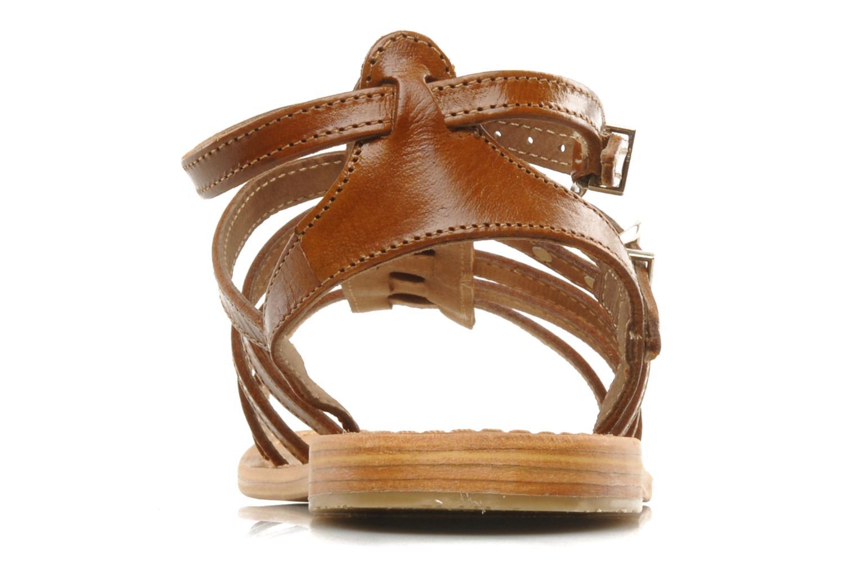 Sandales et nu-pieds Les Tropéziennes par M Belarbi Hic Marron vue droite