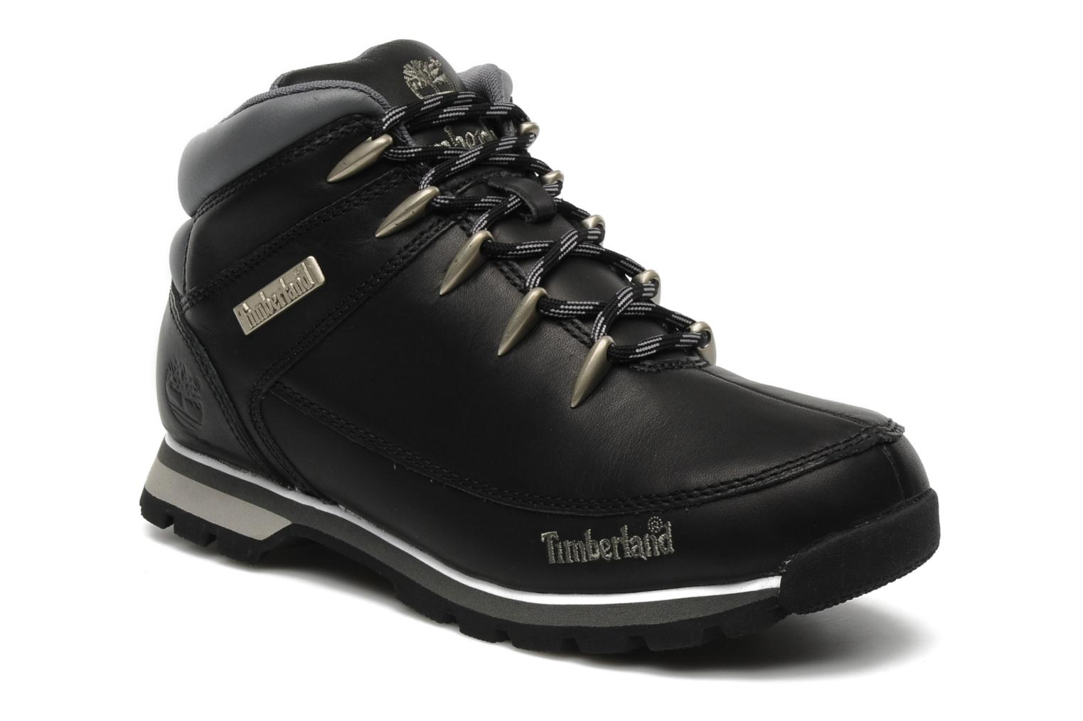 Lace-up shoes Timberland Euro Sprint Black detailed view/ Pair view