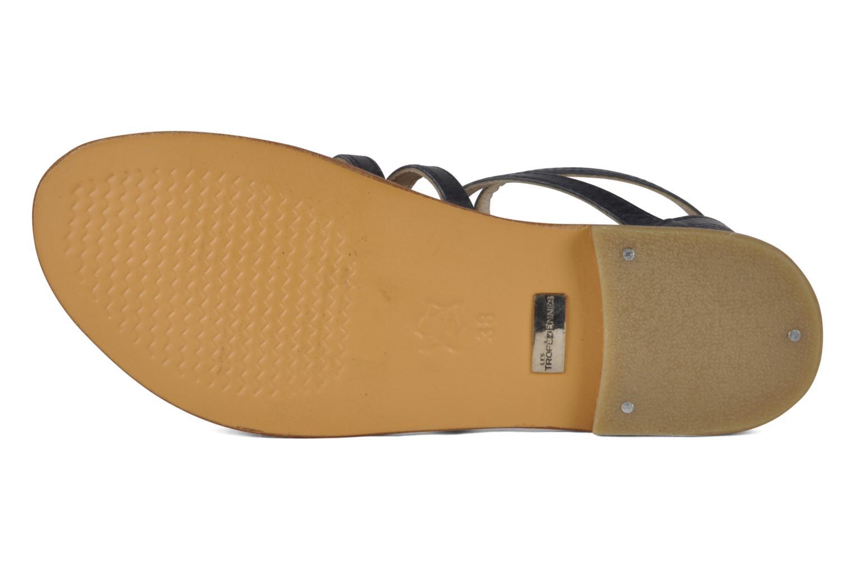 Sandales et nu-pieds Les Tropéziennes par M Belarbi Hicare Bleu vue haut