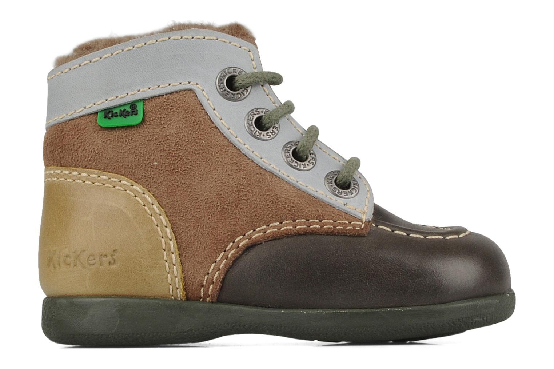 Boots en enkellaarsjes Kickers Babyski Bruin achterkant