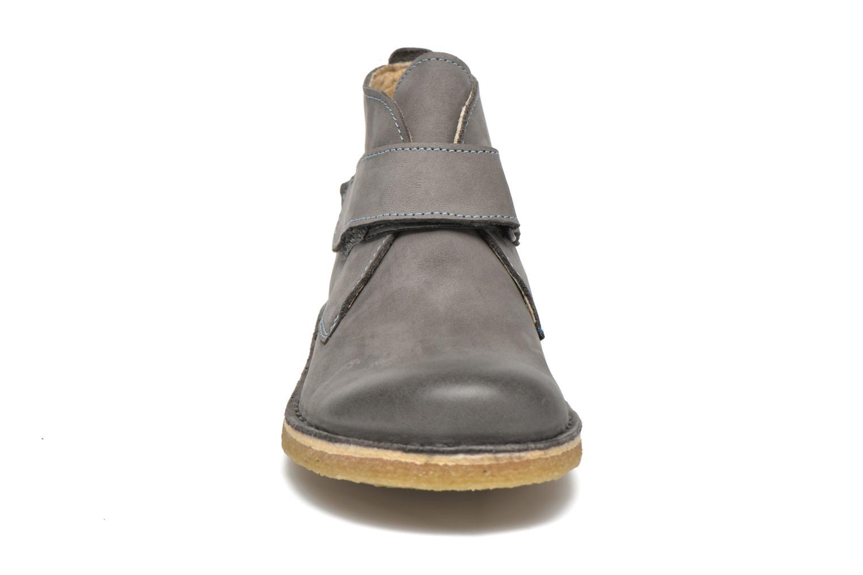 Chaussures à scratch Kickers Rekick Gris vue portées chaussures