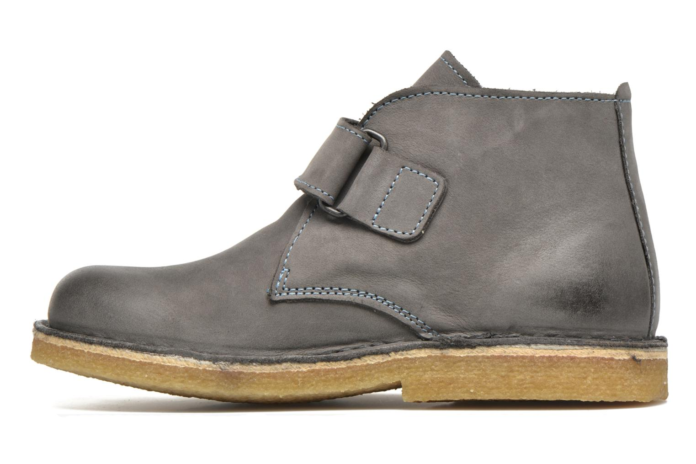 Chaussures à scratch Kickers Rekick Gris vue face