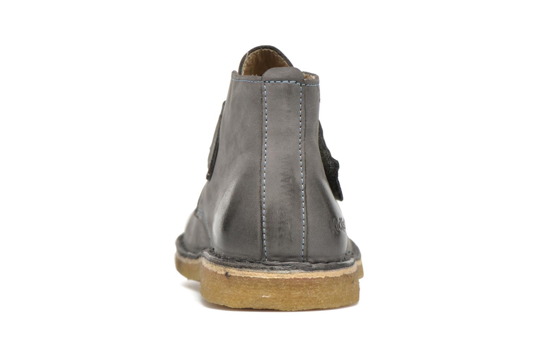 Chaussures à scratch Kickers Rekick Gris vue droite