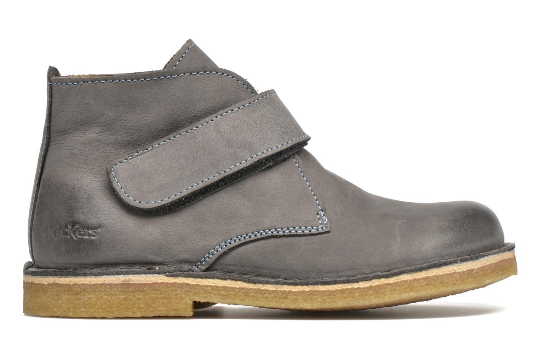 Chaussures à scratch Kickers Rekick Gris vue derrière