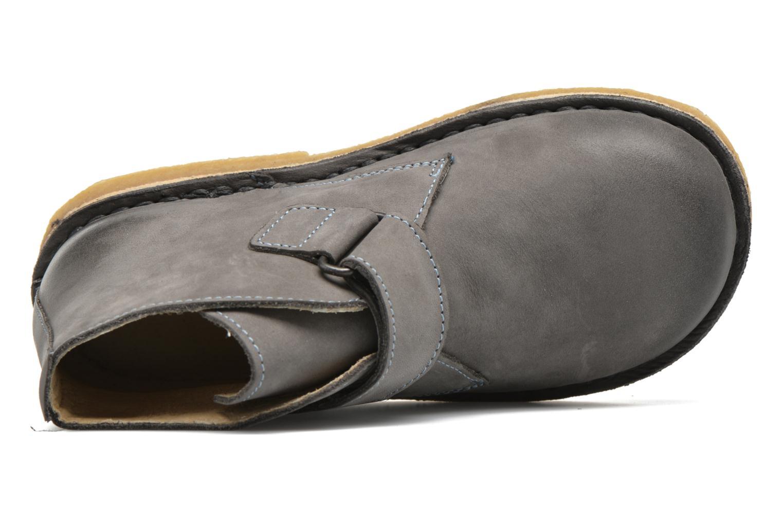 Zapatos con velcro Kickers Rekick Gris vista lateral izquierda