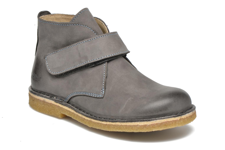 Zapatos con velcro Kickers Rekick Gris vista de detalle / par