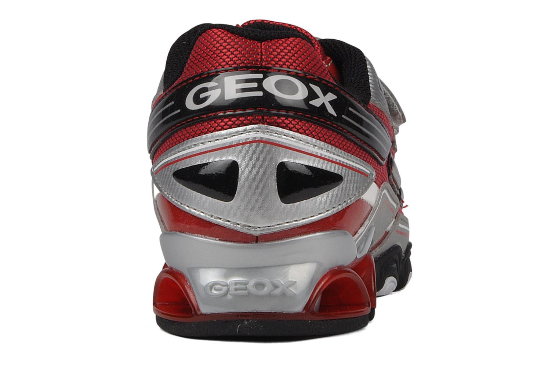 Baskets Geox J tornado t Argent vue droite
