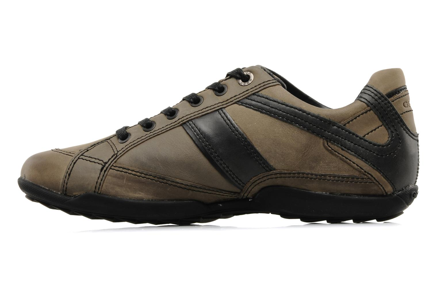 Trainers Geox U pietro r Brown front view