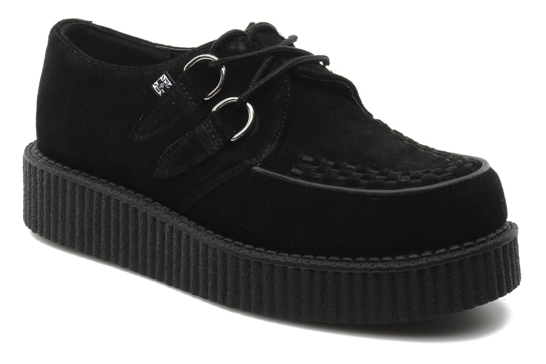 Lace-up shoes T.U.K. Mondo lo creeper Black detailed view/ Pair view