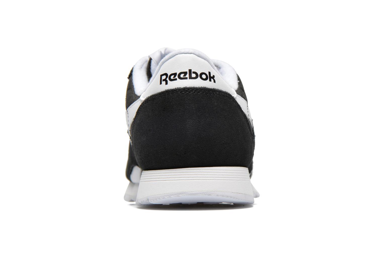 Deportivas Reebok Classic Nylon W Negro vista lateral derecha
