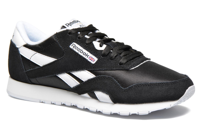 Sneakers Reebok Classic Nylon W Sort detaljeret billede af skoene