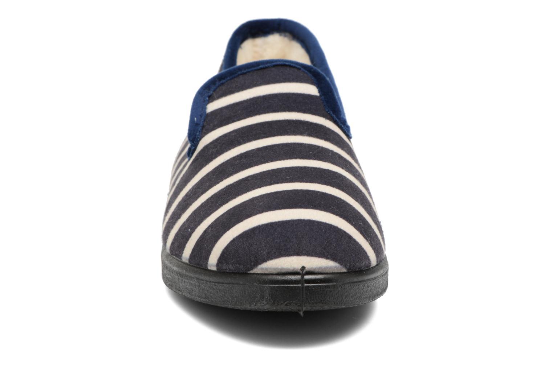 Chaussons Rondinaud Morlaix Bleu vue portées chaussures