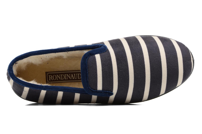 Chaussons Rondinaud Morlaix Bleu vue gauche