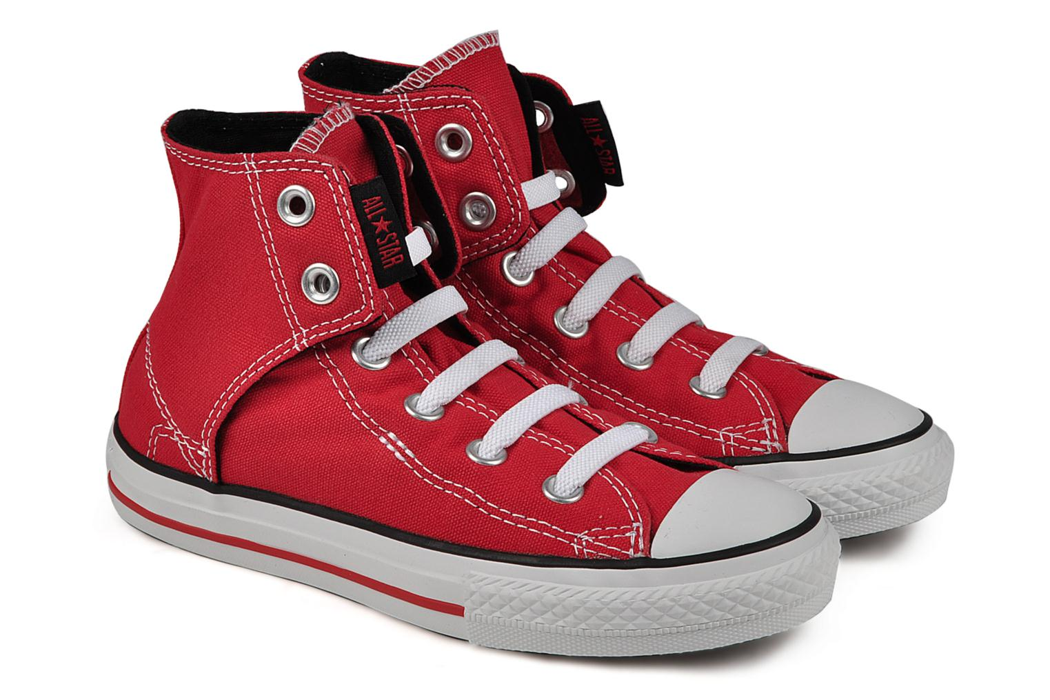 Baskets Converse Chuck taylor all star easy slip hi K Rouge vue 3/4