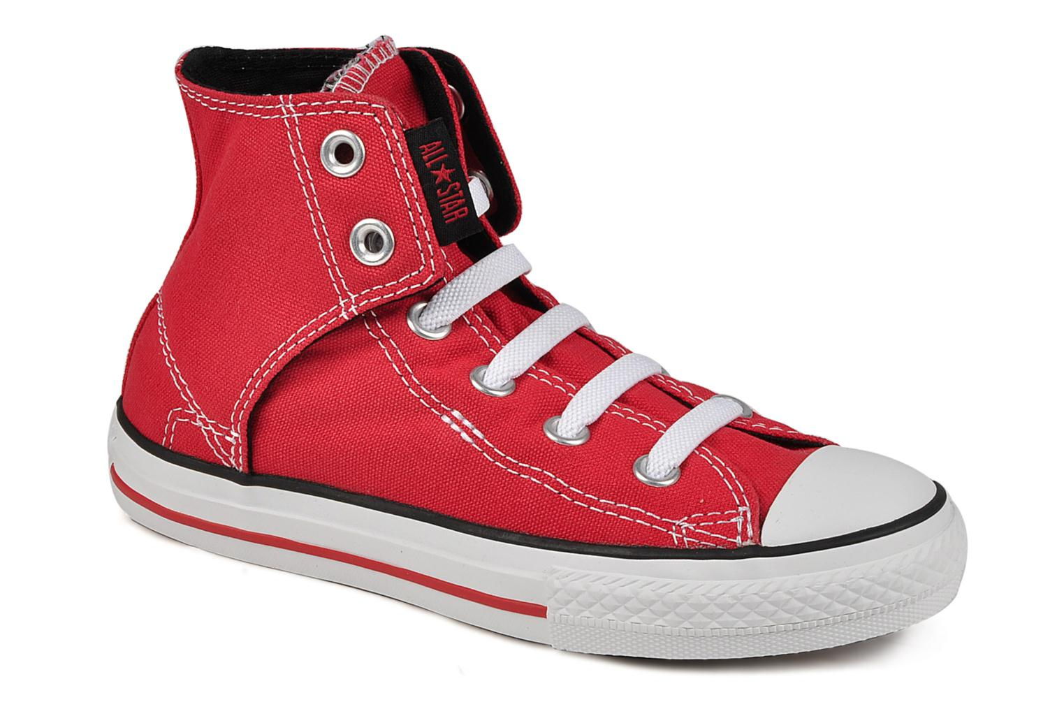 Baskets Converse Chuck taylor all star easy slip hi K Rouge vue détail/paire