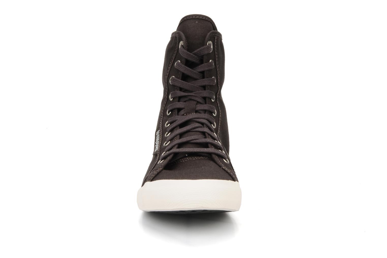 Baskets Le Coq Sportif Deauville plus x high w Marron vue portées chaussures