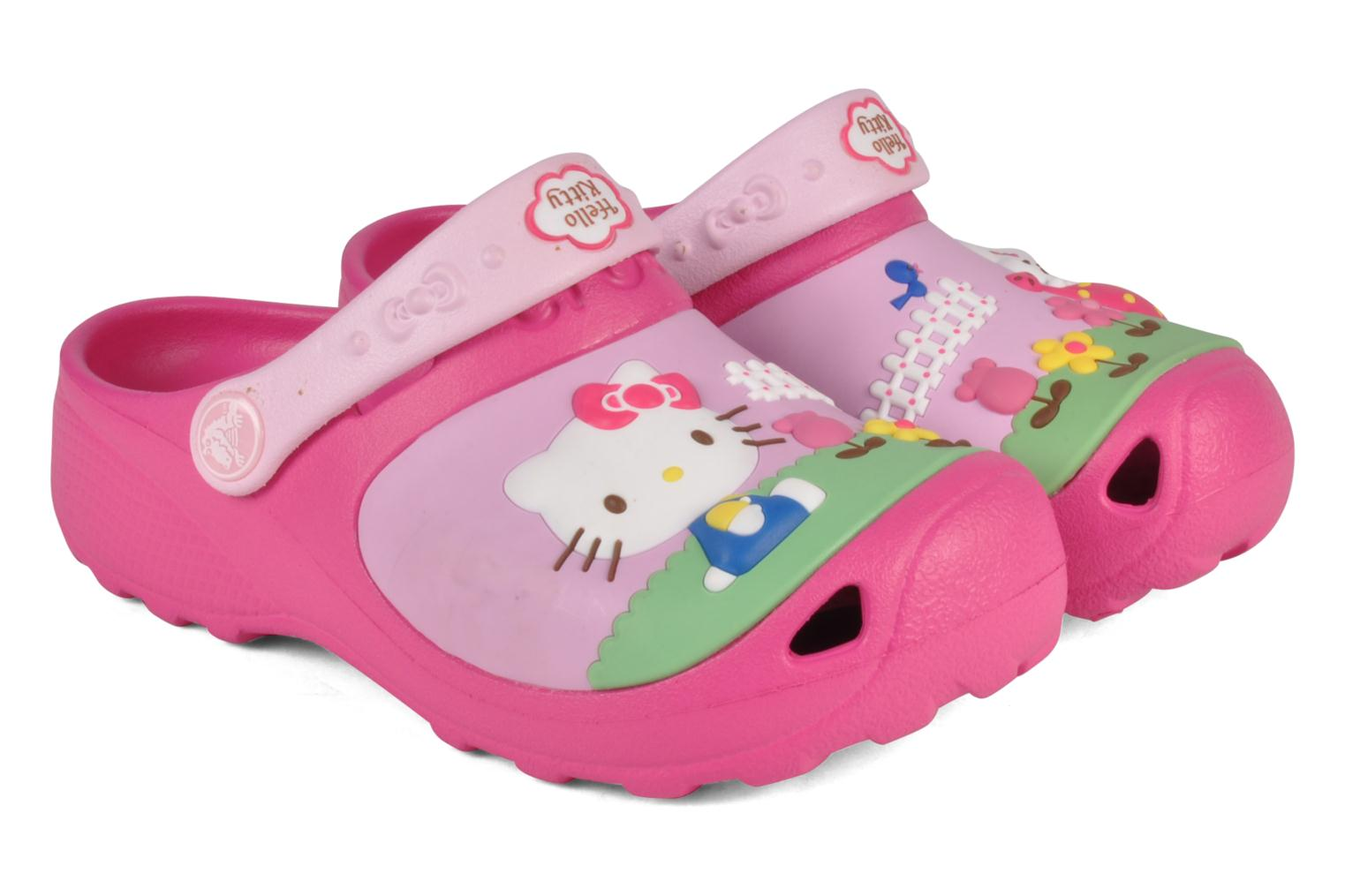 Sandalen Crocs Hello kitty custom clog Roze 3/4'
