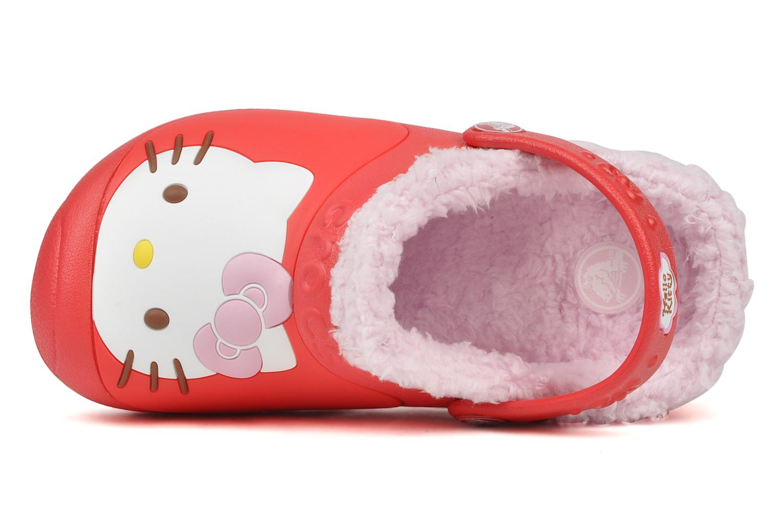 Sandales et nu-pieds Crocs Hello kitty lined custom clog Rouge vue gauche