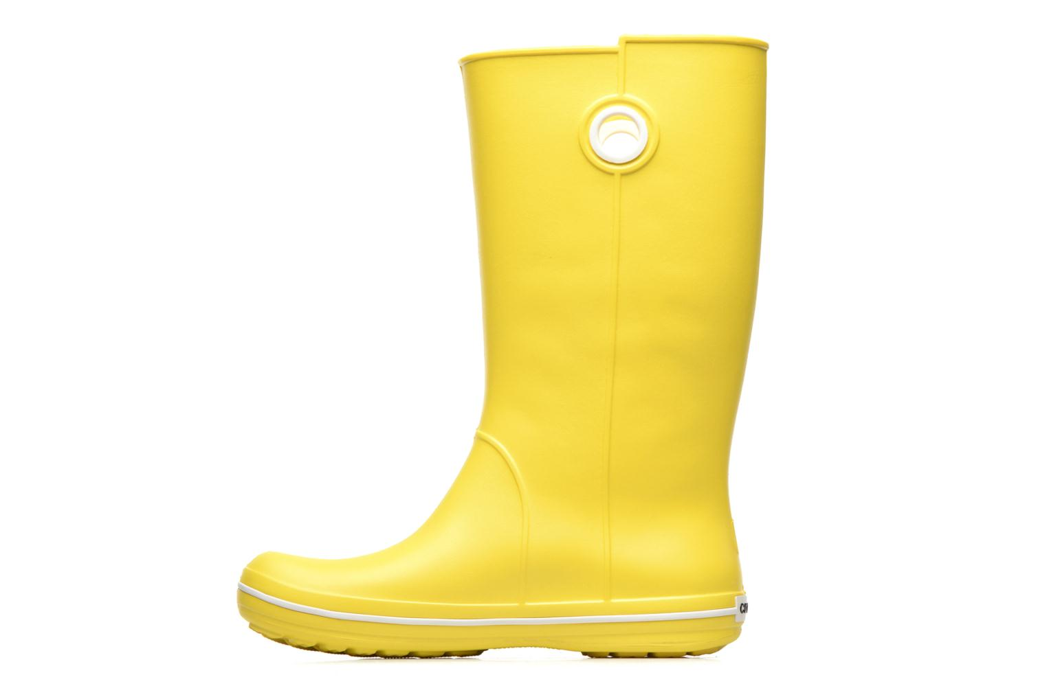 Boots & wellies Crocs Crocband jaunt women's Yellow front view