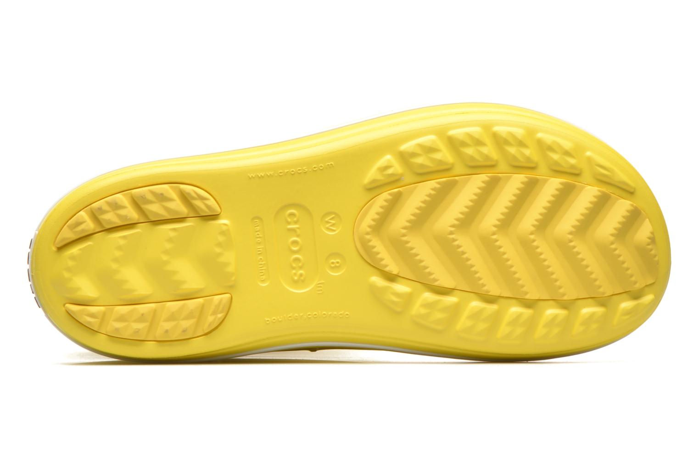 Bottes Crocs Crocband jaunt women's Jaune vue haut