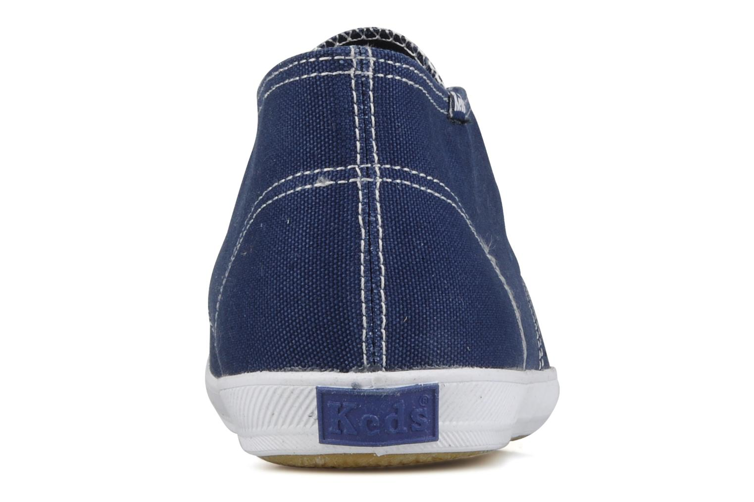 Trainers Keds Chukka Canvas Blue view from the right