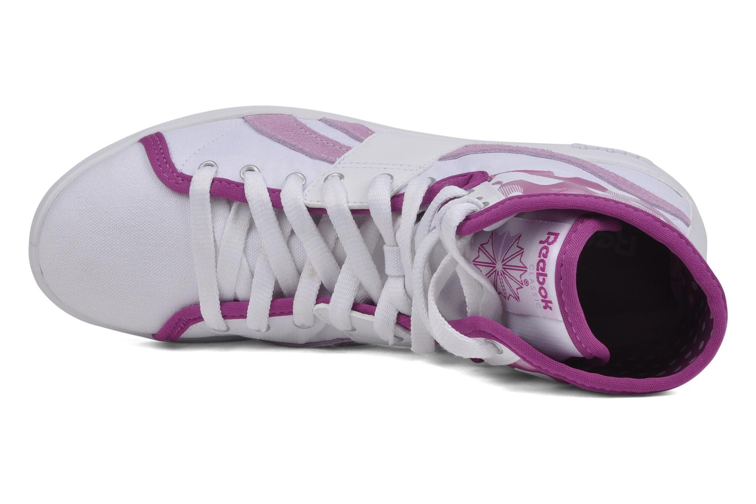 Sneakers Reebok Top down nc Bianco immagine sinistra