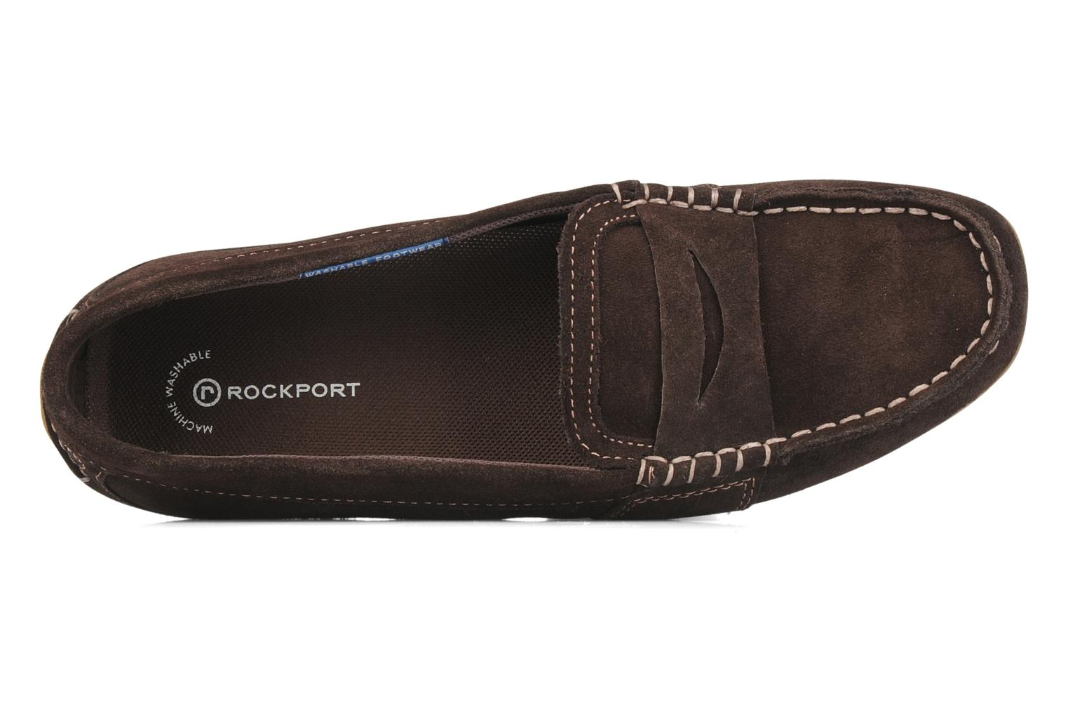 Loafers Rockport Mesh moc Brown view from the left