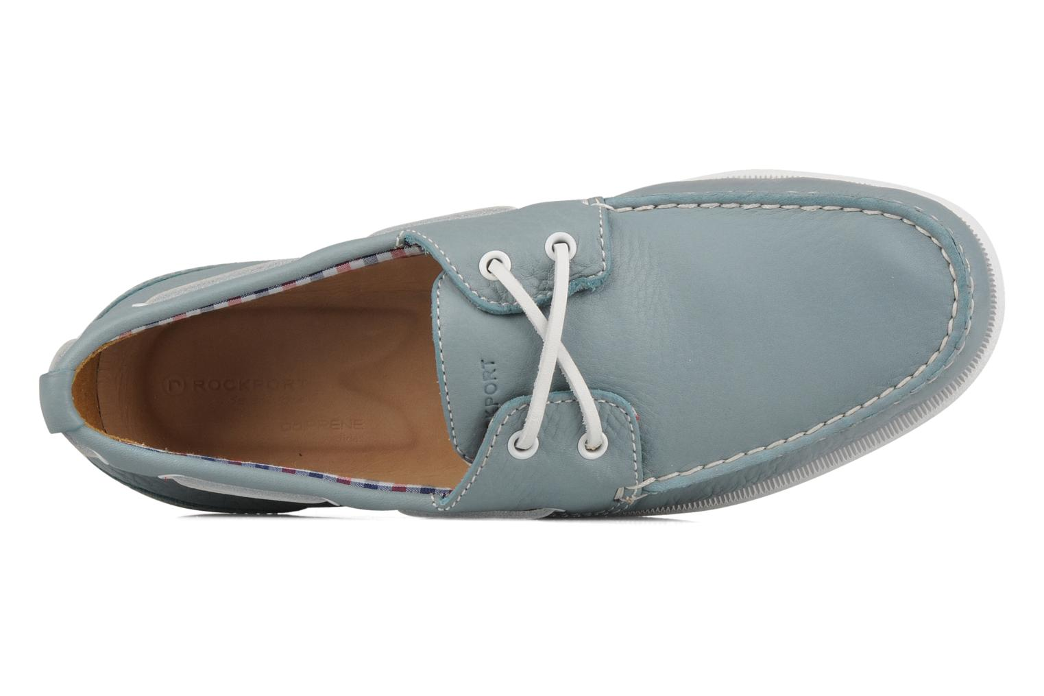 Lace-up shoes Rockport 2 eye boat Blue view from the left
