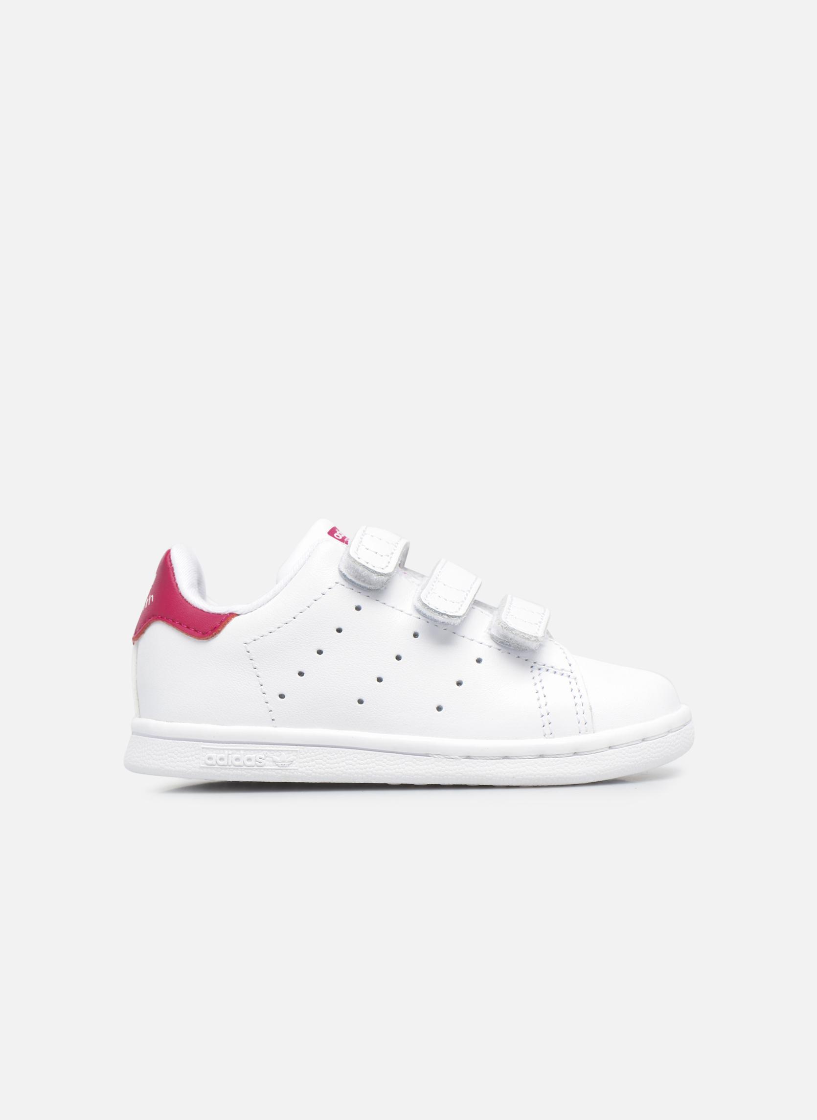 Sneaker Adidas Originals Stan smith cf I weiß ansicht von hinten