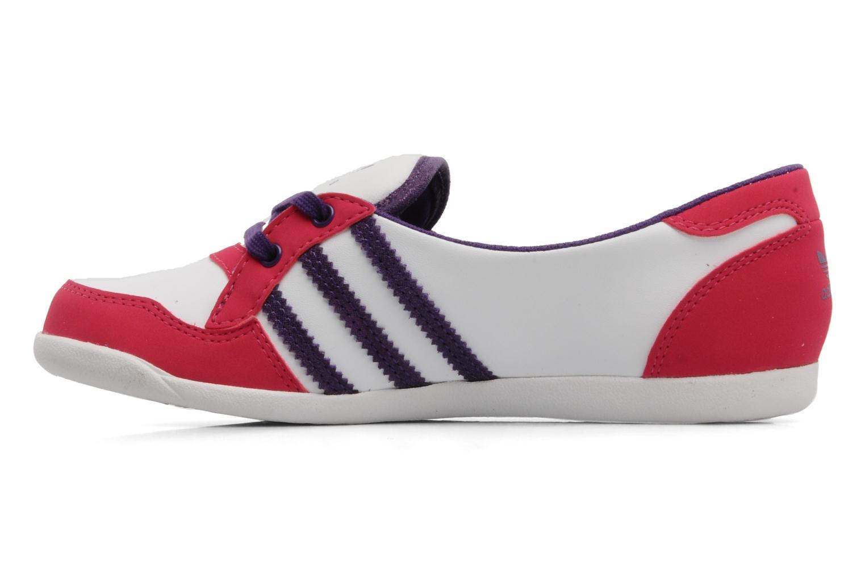Ballerina's Adidas Originals Forum slipper Wit voorkant