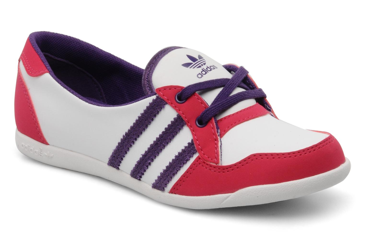 Forum slipper WHITE - POWER PURPLE S12 - BRIGHT PINK F12