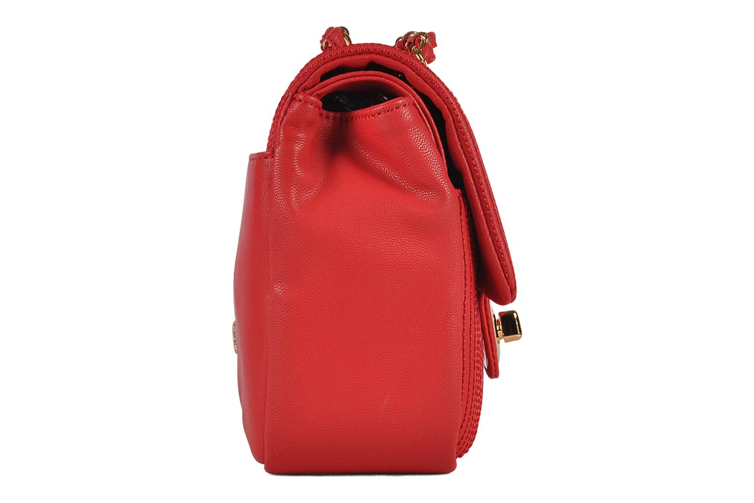 Sacs à main Love Moschino Mosquilted flap Rouge vue droite