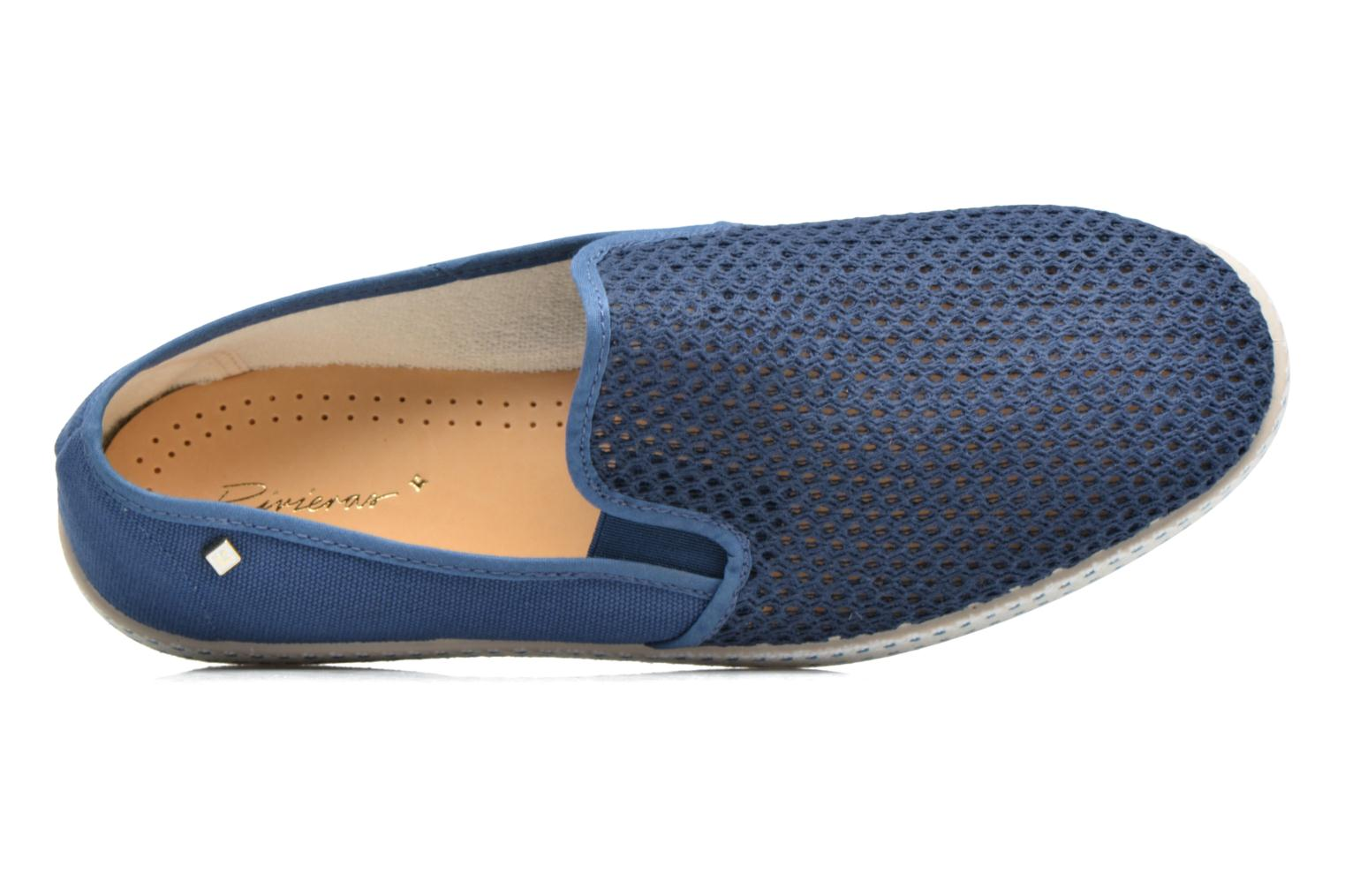 Loafers Rivieras 20°c m Blue view from the left