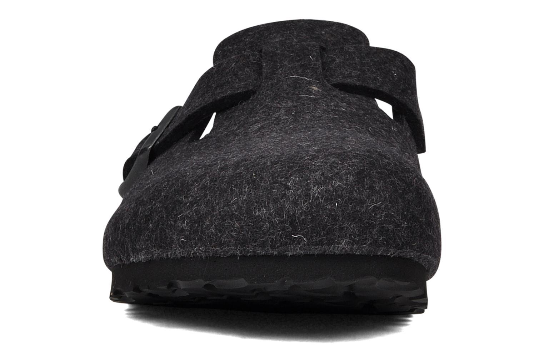 Clogs & Pantoletten Birkenstock Boston Laine W grau schuhe getragen