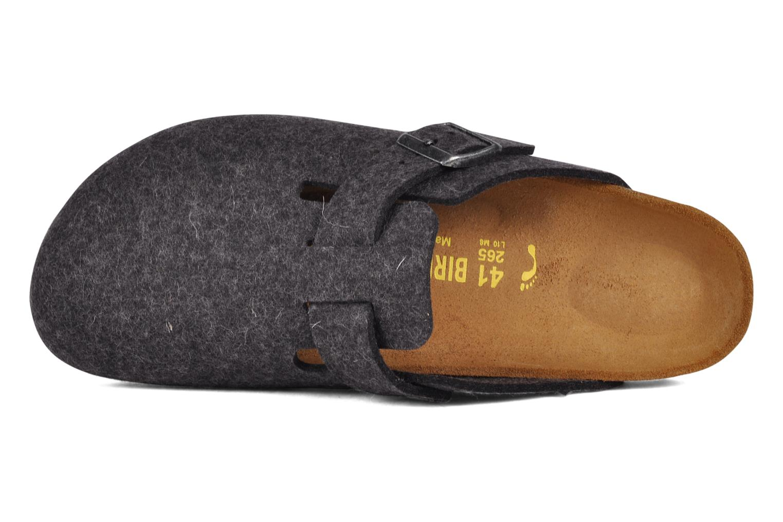 Sandals Birkenstock Boston Laine M Grey view from the left
