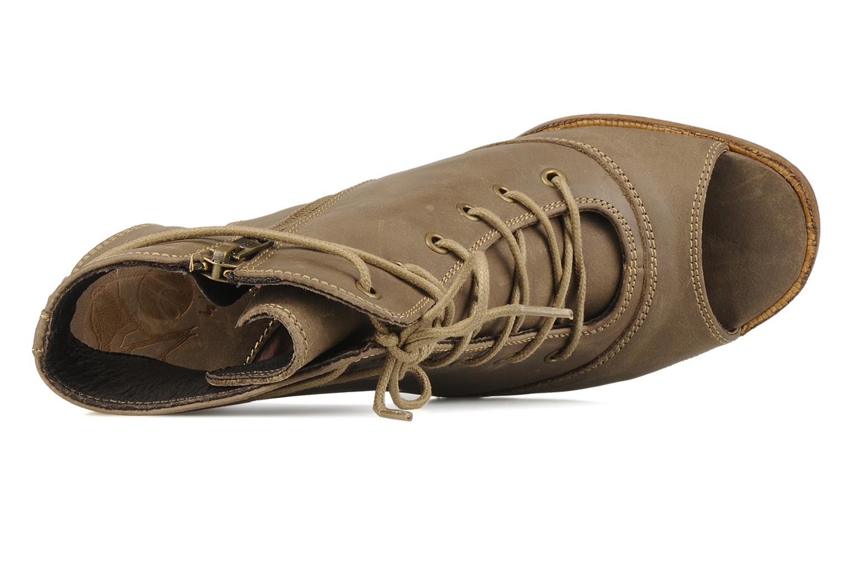 Sandales et nu-pieds H By Hudson Henshaw Beige vue gauche