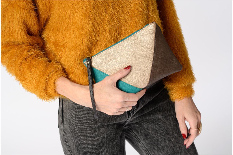 Sacs pochettes Bensimon Zipped pocket Multicolore vue haut