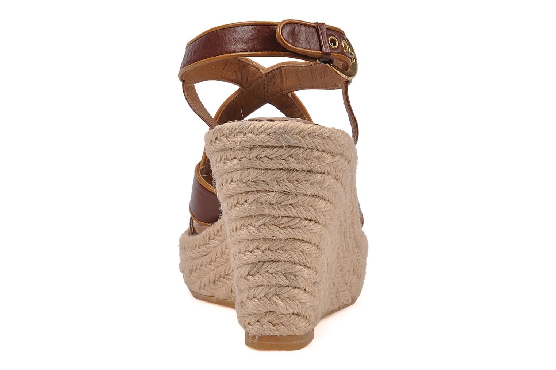 Sandales et nu-pieds C.Petula Leia Marron vue droite