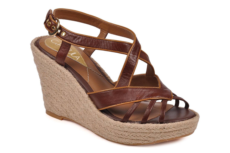 Sandales et nu-pieds C.Petula Leia Marron vue détail/paire