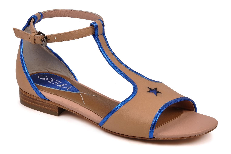 Sandales et nu-pieds C.Petula Starsky Beige vue détail/paire
