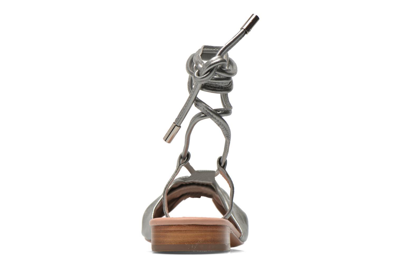 Sandales et nu-pieds C.Petula Rizzo Argent vue droite