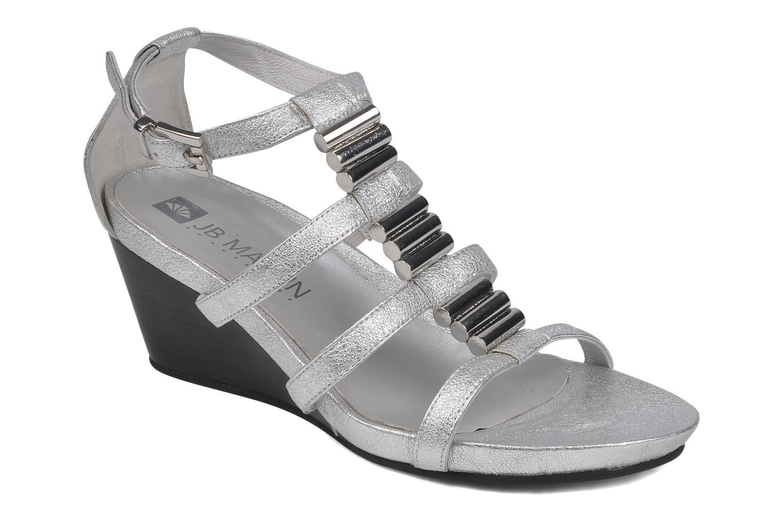 Sandales et nu-pieds JB MARTIN Byzance Argent vue détail/paire